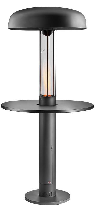 Pellet Heizpilz mit Reflektor und Tisch